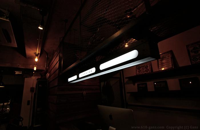 LEDを組み込んだ鉄製ランプボックス・イルミネーションサイン