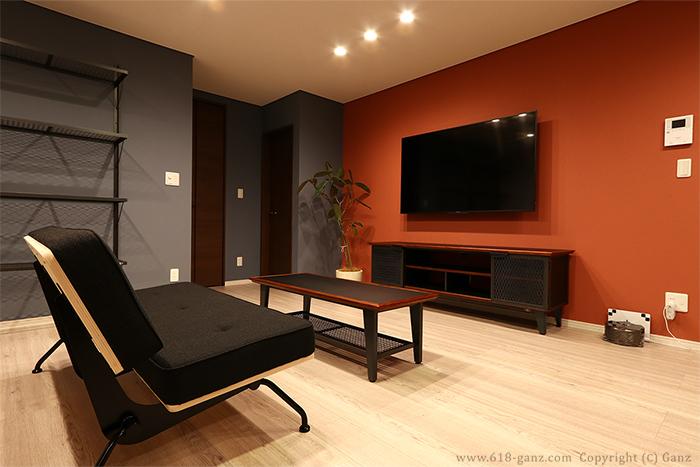 ソファ、TVボード、ローテーブルの組み合わせ