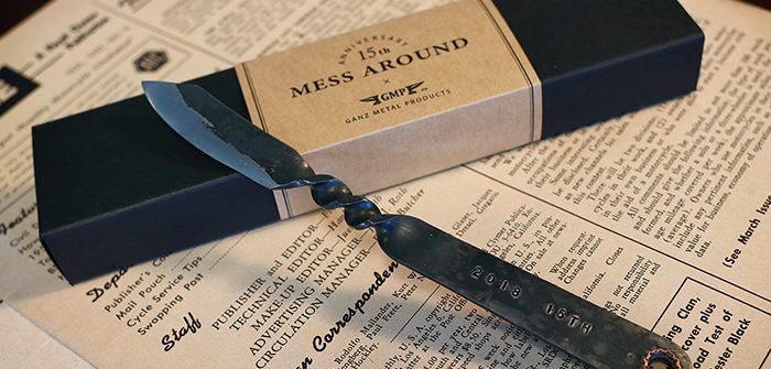 MESS AROUND × GMP 「Black Iron Paper Knife」