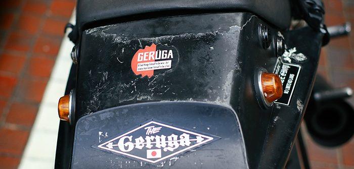 ゲルガの展示会で撮影したkawasaki GPZ のステッカー