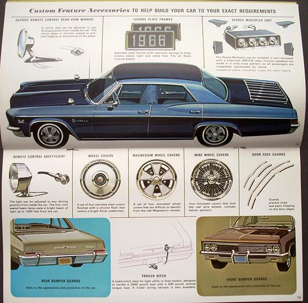 1966年インパラ用のカスタムパーツカタログ