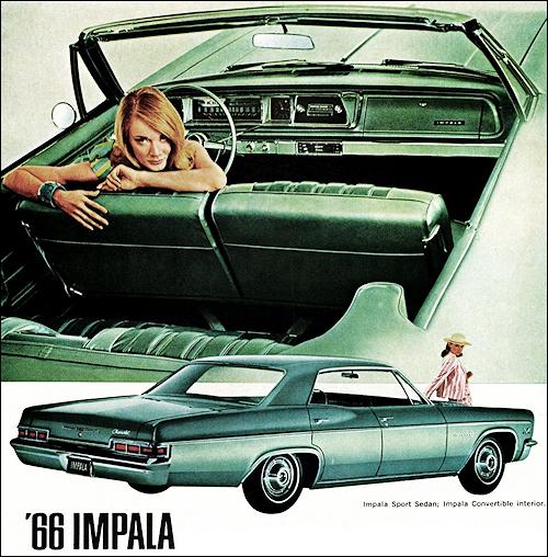 1966年インパラコンバーチブルの印刷物