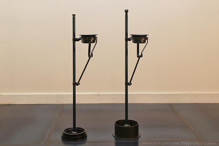 ヴィンテージパーツの個性を生かしたデザインの個性的なスタンド灰皿