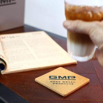 Cork Coaster Set – GMP Block Logo